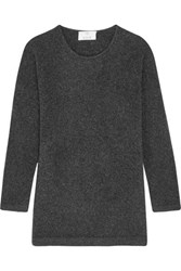 Allude Wool Blend Sweater Charcoal