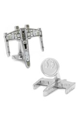 Ravi Ratan Men's Cufflinks Inc. 'Star Wars X Wing Starfighter Blueprint' Cuff Links White Black