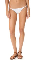 Tavik Jax Ribbed Bikini Bottoms White Ribbed