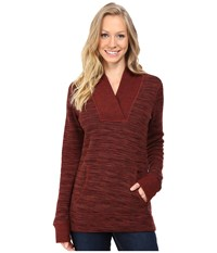 Kuhl Isla Hoodie Red Spice Women's Long Sleeve Pullover Brown