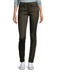 Buffalo David Bitton Animal Print Skinny Jeans Leopard