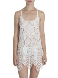 In Bloom Lace Scalloped Chemise White