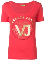 Versace Jeans Logo Printed T Shirt Red