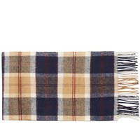 Norse Projects X Johnstons Check Scarf Neutrals