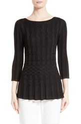 St. John Women's Collection Rib Knit Pullover