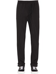 Valentino Pleated Wool Blend Jogging Pants Black
