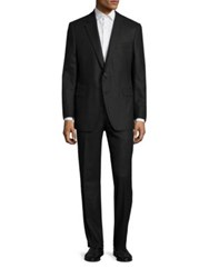 Saks Fifth Avenue Solid Wool Suit Charcoal
