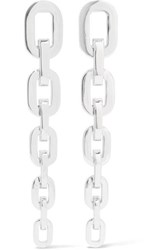 Jennifer Fisher Chain Link Silver And Rhodium Plated Earrings One Size