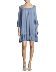 Bb Dakota Crepe Trapeze Dress Stonewash