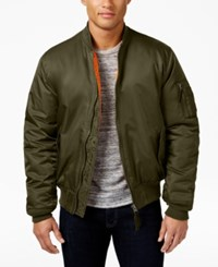 Ring Of Fire Men's Bomber Jacket Created For Macy's Olive