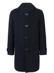 Christopher Kane Hooded Coat Blue