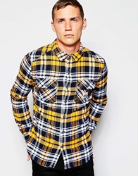 Superdry Check Flannel Shirt Mustard
