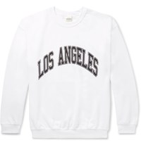 Noon Goons Printed Fleece Back Cotton Jersey Sweatshirt White