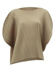 Issey Miyake Pleats Please Technical Pleated Top Grey