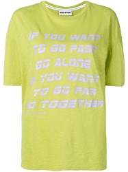 Each X Other Go Together Print T Shirt Green