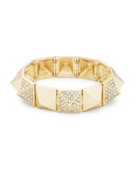 Rj Graziano Studded Pave Stretch Bracelet Gold