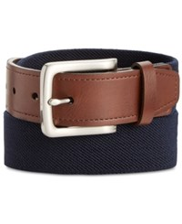 Club Room Men's Stretch Web Belt Only At Macy's Navy