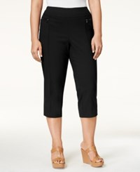 Styleandco. Style Co. Plus Size Twill Capri Pants Only At Macy's Deep Black