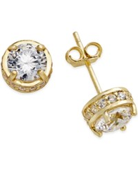 No Vendor Giani Bernini Fancy Stud Earrings In 18K Gold Plated Sterling Silver