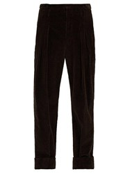 Connolly Turned Up Cotton Blend Corduroy Trousers Brown