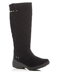 Khombu Alex Quilted Waterproof Wedge Boots Black