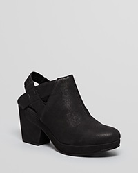 Eileen Fisher Platform Clog Booties Grip Black