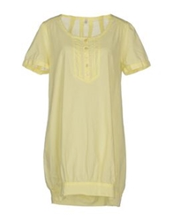 B.Young Short Dresses Light Yellow