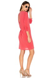 Stateside Open Back T Shirt Dress Red