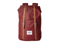 Herschel Retreat Wine Tasting Crosshatch Tan Synthetic Leather Backpack Bags Brown