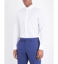 Richard James Floral Embroidered Cotton Shirt White