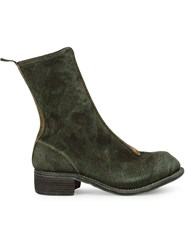 Guidi Zipped Fitted Boots Green