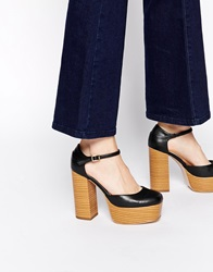 Asos Patch It Up Platforms Black