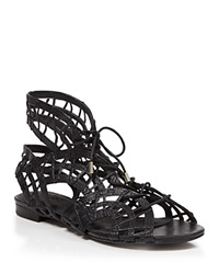 Joie Caged Flat Sandals Renee Black