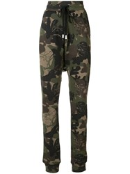 Haculla Camouflage Print Track Pants Green