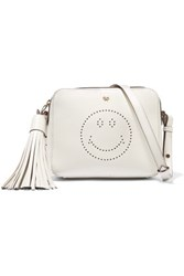 Anya Hindmarch Perforated Leather Shoulder Bag Off White