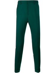 Gucci Slim Fit Wool Blend Pants Green Red White