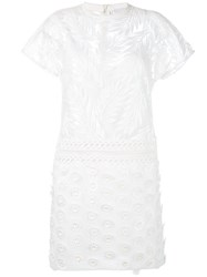 Si Jay Embroidered Flower Dress White