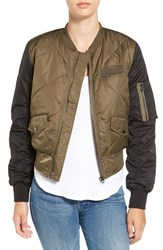 Members Only Women's Quilted Two Tone Bomber Jacket
