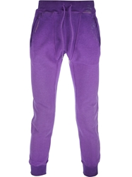 Dsquared2 Washed Track Pants Pink And Purple