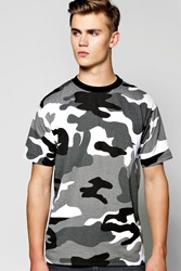 Loose Fit Camo Print T Shirt