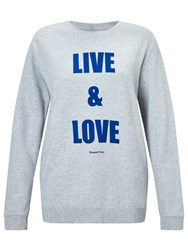 People Tree Live And Love Sweatshirt Grey Blue