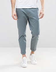 Dr. Denim Dr Rigid Slim Tapered Chino With Turn Up Misty Green Blue