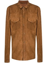 Salvatore Santoro Buttoned Leather Shirt 60