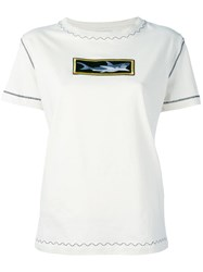 J.W.Anderson Shark Patch T Shirt Nude Neutrals