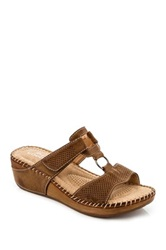 Godiva Wedge Sandal Brown