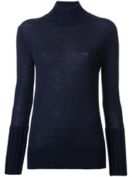 Le Ciel Bleu Ribbed Jumper Blue