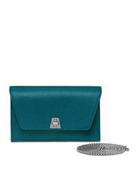 Anouk Leather Clutch Bag Deep Petrol Akris