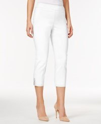 Jm Collection Cropped Straight Leg Pants Only At Macy's Bright White