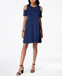 Style And Co Cold Shoulder A Line Dress Created For Macy's Ink