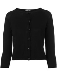 Samantha Sung Cropped Cardigan Women Cashmere Wool S Black